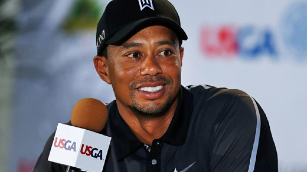 US Open golf: Tiger Woods speaks to the press at Merion