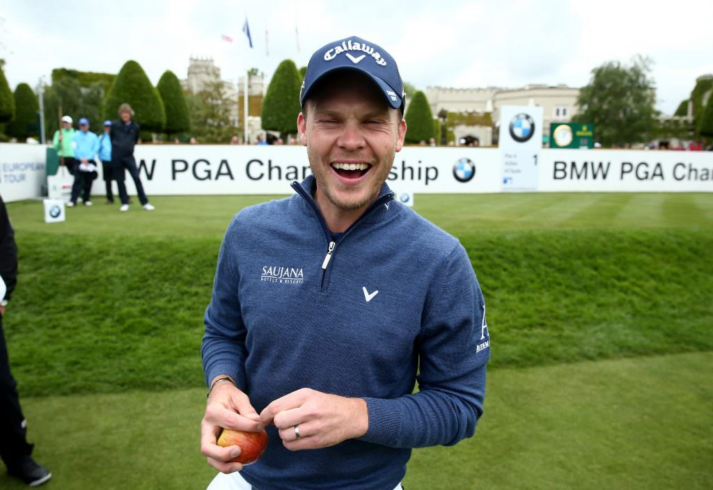 VIRGINIA WATER, ENGLAND - MAY 25: Danny Willett of England laughs during the Pro-Am prior to the BMW PGA Championship at Wentworth on May 25, 2016 in Virginia Water, England. (Photo by Warren Little/Getty Images)