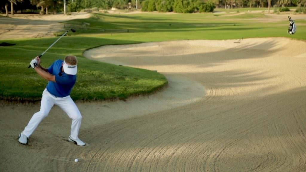 Soren Kjeldsen short game tips: The downhill bunker shot