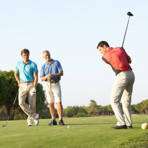 Ready, steady, golf! Hang on – do you want to play or are you waiting for me?