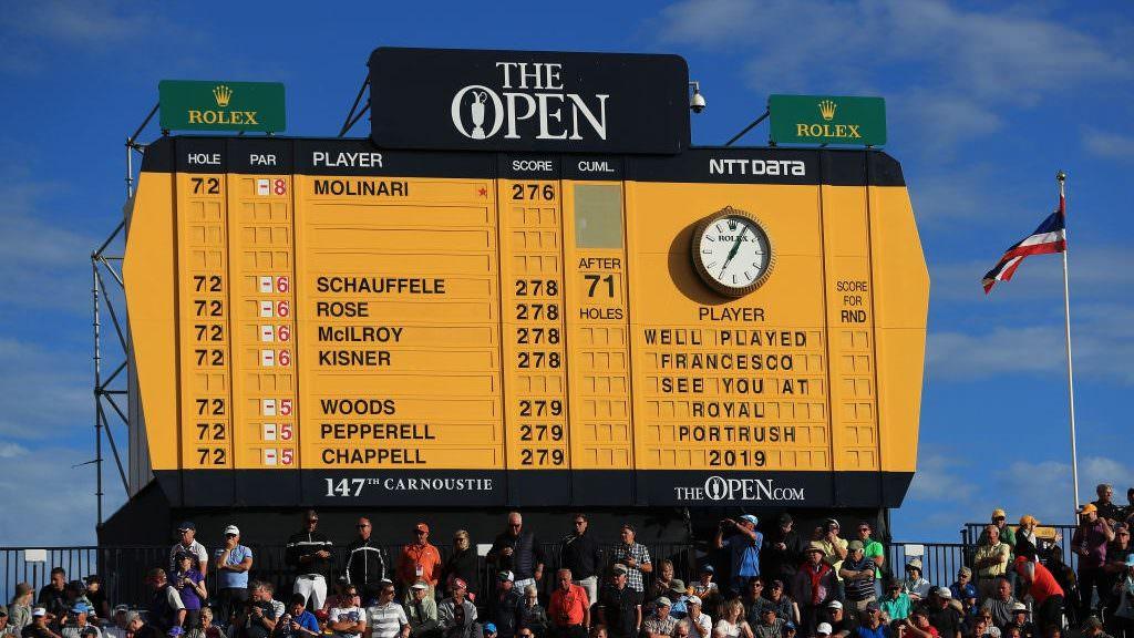 The Open final leaderboard