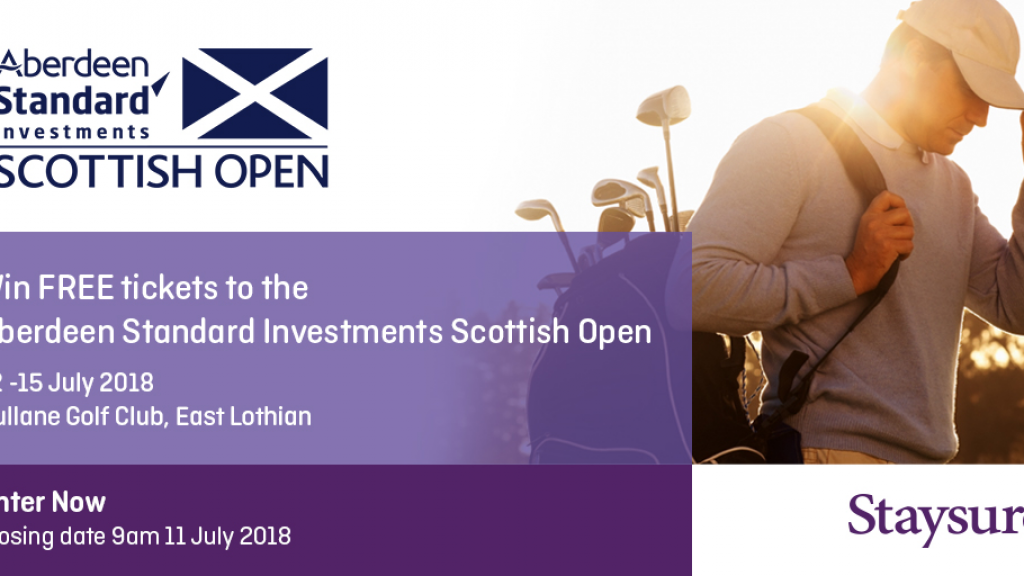 WIN: Tickets to the Aberdeen Standard Investments Scottish Open courtesy of Staysure