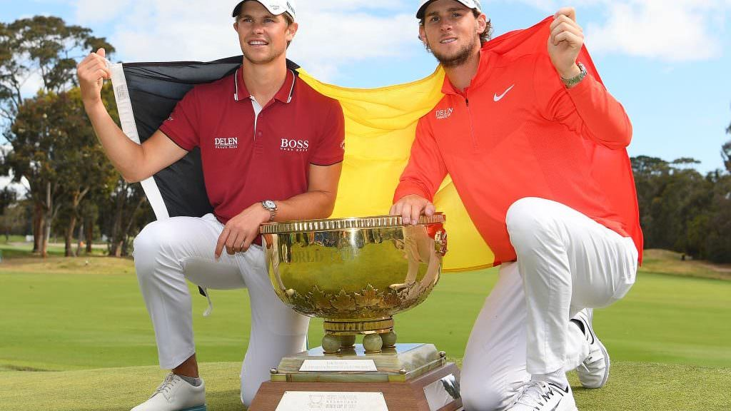 Belgium hangs on for World Cup of Golf win