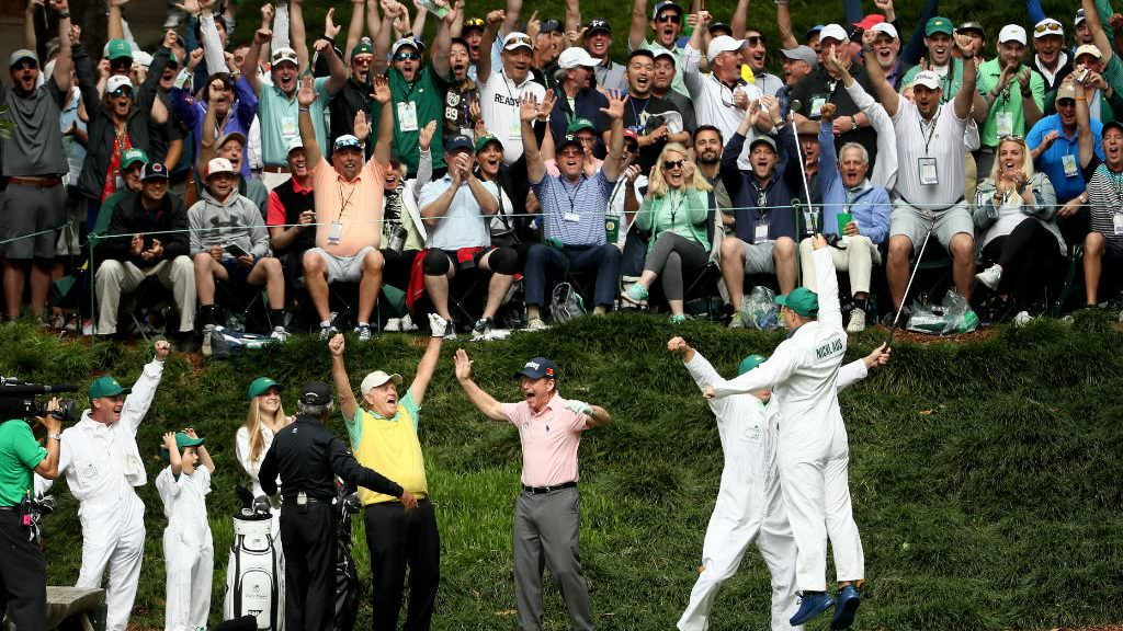 Who would caddie for you in the Masters Par 3 contest?