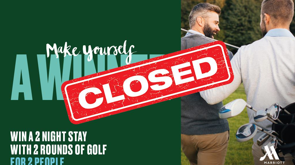 Win: A two night golf break to a Marriott hotel