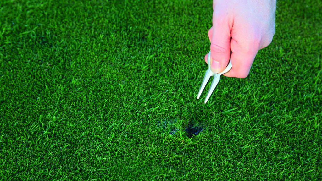The genius idea to get golfers to repair pitch marks