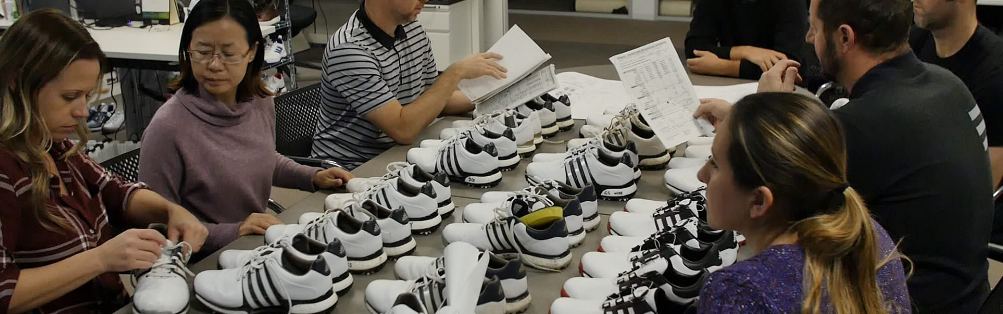 How are golf shoes made?