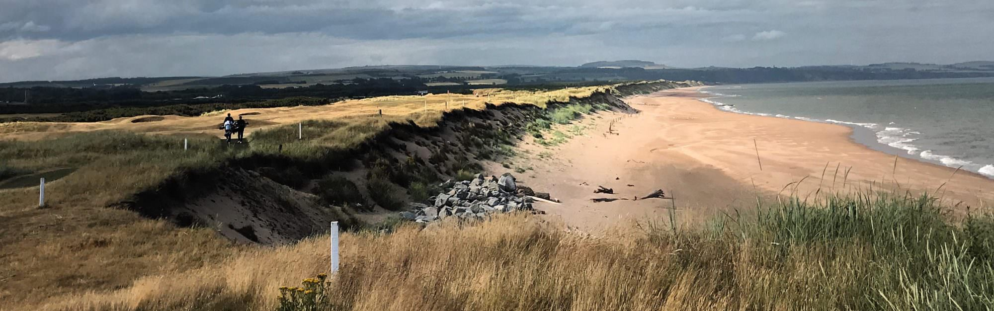 The battle to save the links courses disappearing into the sea