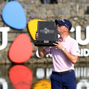 Eleven up for JT as Koepka forced out by freak injury