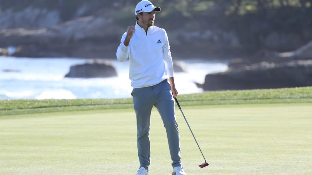 Taylor goes wire to wire at Pebble to deny Mickelson records