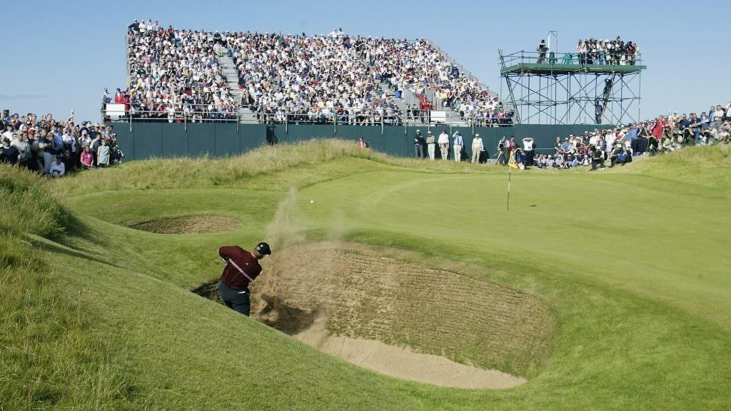 Master the dreaded downhill bunker shot