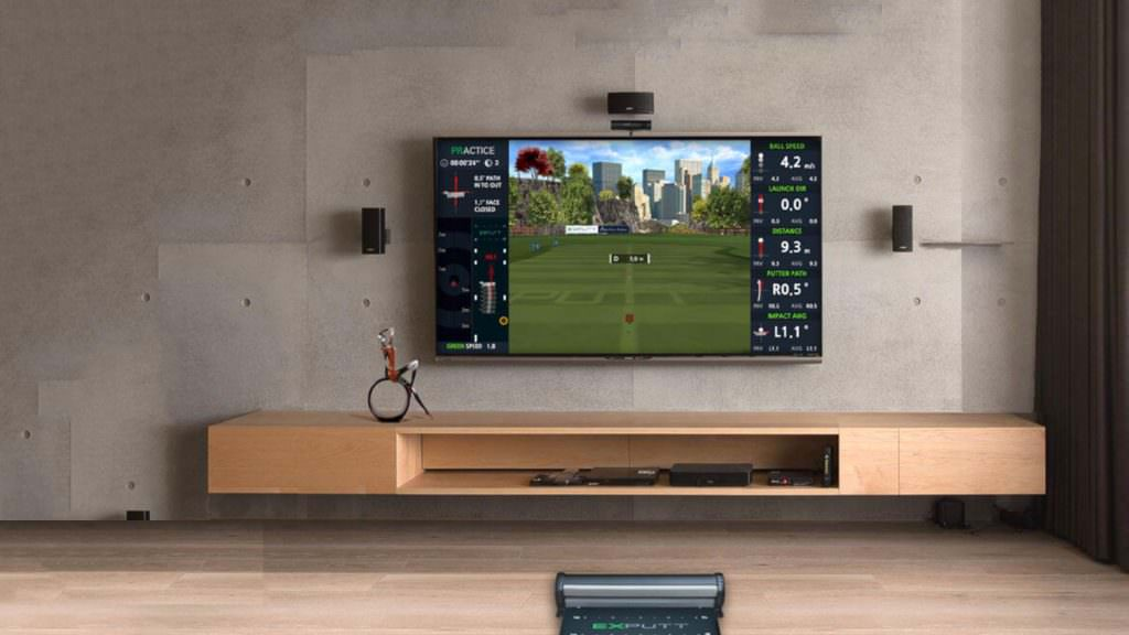 Bring the practice green to your living room with the Exputt simulator