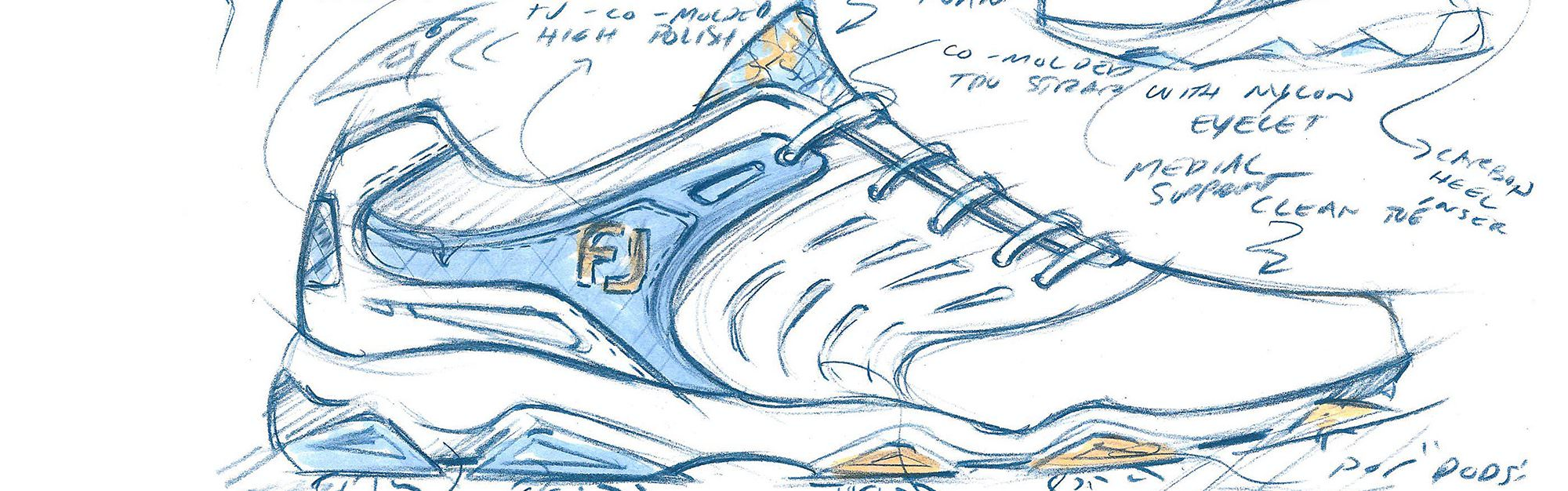 What's involved in the design process for golf shoes? The answer may surprise you