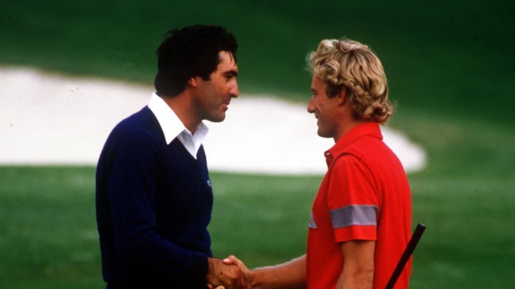 'We were in awe of the Americans - until we played them every week': When Langer and Seve ruffled a few feathers at Augusta