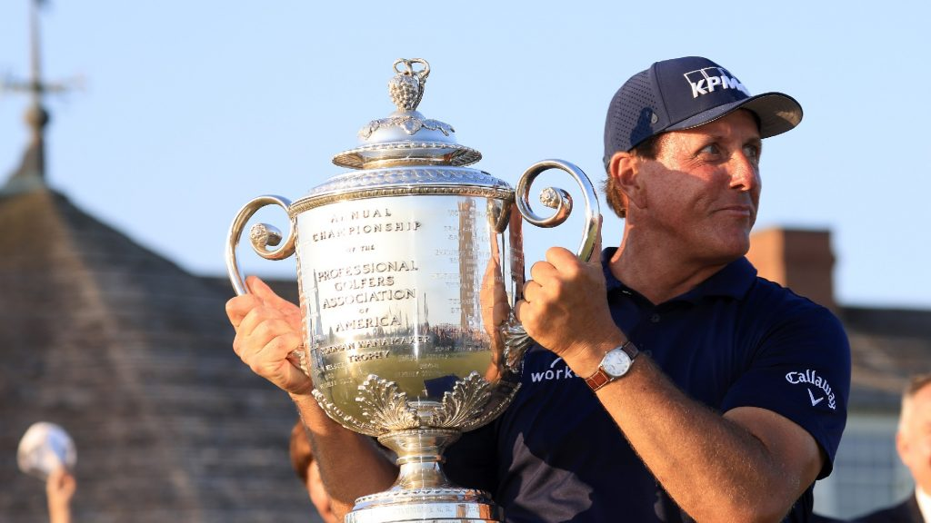 How Mickelson rewrote the record books at the PGA Championship