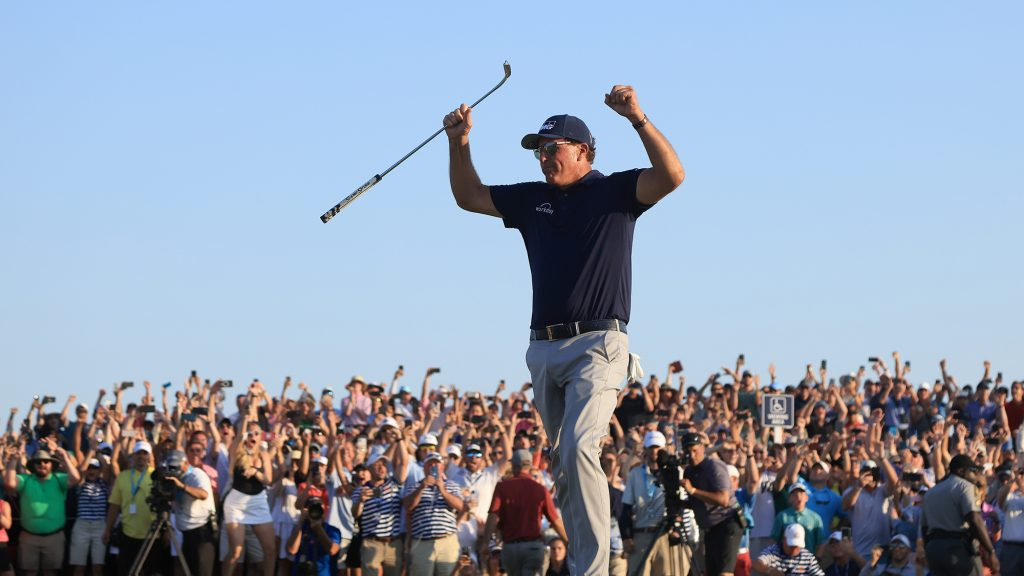 How does Mickelson keep himself in shape at 50?