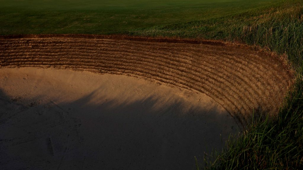 They do things a bit differently at The Open – even raking bunkers