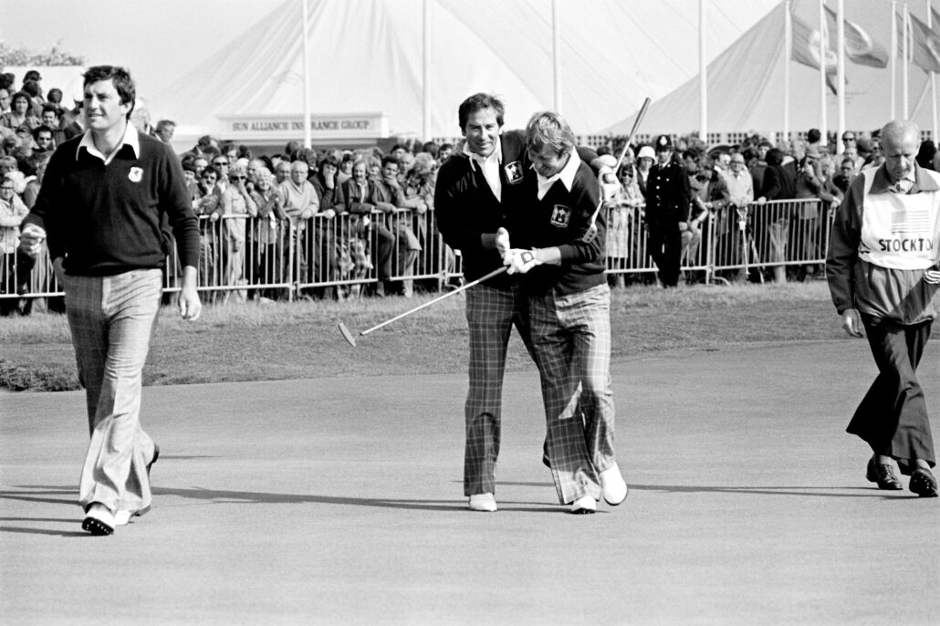 Peter Dawson at the 1977 Ryder Cup
