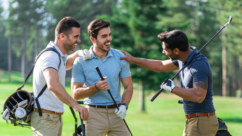 Angry Club Golfer: Oh I'm sorry, did my shot interrupt your conversation?